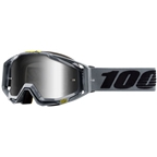 100% Racecraft Goggle: Nardo with Mirror Silver Lens, Spare Clear Lens Included