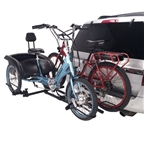 Hollywood Racks Sport Rider SE Hitch Bike Rack For 1 E-Fat Bike and 1 Standard E-Trike
