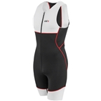 Garneau Tri Comp Men's Suit: Black/Gray/Red
