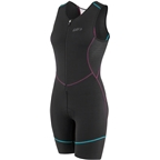 Garneau Tri Comp Women's Suit: Black/Purple/Green