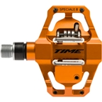 """Time SPECIALE 8 Pedals - Dual Sided Clipless with Platform, Aluminum, 9/16"""", Orange"""