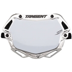 Tangent Small Ventril 3D Number Plate - Chrome/White