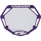 Answer BMX 3D Pro Number Plate - Purple