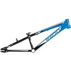 "Radio Helium BMX Race Frame - Junior, 18.6"" TT, Black/Cyan"