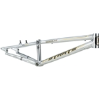 "Staats Bloodline SuperMoto30 BMX Race Frame - Junior, 18.5"" TT, Silver Arrow Polished, Black"