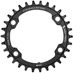Wolf Tooth 96 BCD Chainring - 30t, 96 Asymmetric BCD, 4-Bolt, For Shimano M8000/M7000 Cranks, Requires 12-Speed Hyperglide+ Chain, Black