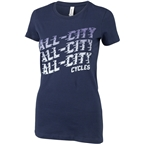 All-City Flow Motion T-Shirt - Womens Blue