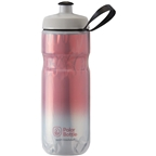 Polar Bottles Sport Fade Insulated Water Bottle - 20oz, Red/Silver