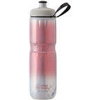 Polar Bottles Sport Fade Insulated Water Bottle - 24oz, Red/Silver