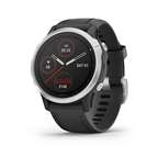 Garmin, fenix 6S, Watch, Watch Color: Silver, Wristband: Black - Silicone
