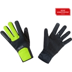 GORE M WINDSTOPPER Thermo Gloves - Black/Neon Yellow, Full Finger