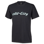 All City Men's Logowear T-Shirt - Black, Teal