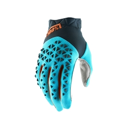 100% Airmatic Glove Steel Grey/Ice Blue/Bronze
