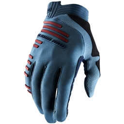 100% R-Core Men's Full Finger Gloves: Slate Blue