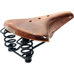 Brooks B67 Saddle Pre-Aged Tan with Laces and Black Steel Rail