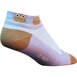 SockGuy Owls Sock: Lavender/Brown; SM/MD