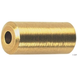 Wheels Mfg Brass Cable Ferrule, 5.0mm, Bottle of 50