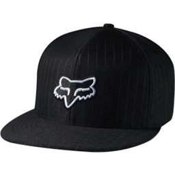 Fox Racing The Steez Fitted Baseball Cap: Black Pinstripe