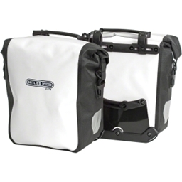 Ortlieb Sport-Roller City Front Pannier: Pair; White/Black (Formerly Front-Roller City)