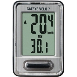 CatEye Velo 7 Cycling Computer; 7 Functions; CC-VL520: Black