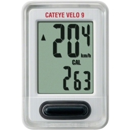 Cateye Velo 9 Cycling Computer; 9 Functions; CC-VL820 White
