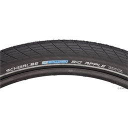 Schwalbe Big Apple Tire, 29x2.35 Wire Bead Black with Reflective Sidewall and RaceGuard Protection