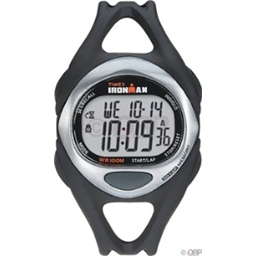 Timex Ironman 50-Lap Sport Watch: Mid-Size; Black/Silver