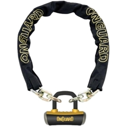 OnGuard Mastiff Chain Lock with Keys: 3.7' x 10mm
