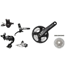 2013 Shimano XT 2x10 Kit-In-A-Box 175mm 40/28t 11-36 Rotors Not Included