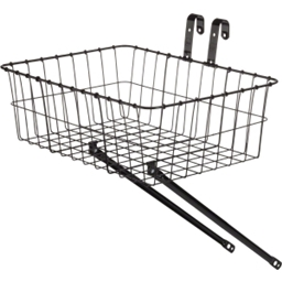 Wald 139 Front Basket with One-Piece Legs: Black