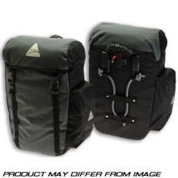Axiom Seymour DLX 20 Pannier Set: Black/Gray