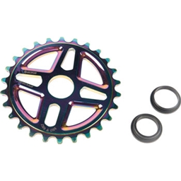Salt Plus Center Bolt Drive Sprocket 28t Oil Slick Includes Adaptors for 19mm and 22mm