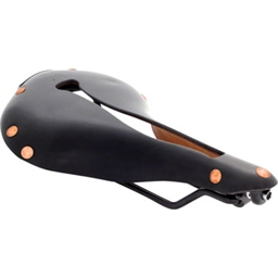 Selle Anatomica X Series Watershed Saddle: Black with Copper Rivets