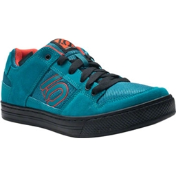 Five Ten Freerider Flat Pedal Shoes: Teal/Grenadine