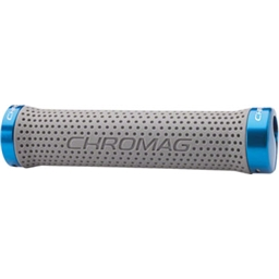 Gray Grips Chromag Basis Grips Blue Clamps