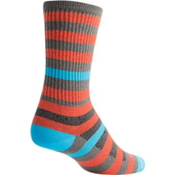 SockGuy Metro Sock: Orange/Gray