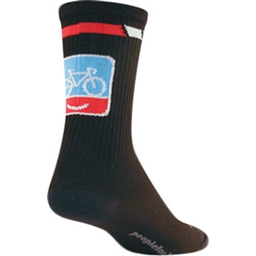 SockGuy People for Bikes Sock: Black