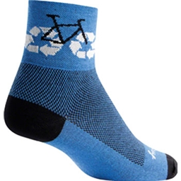 SockGuy Recycle Bike Sock: Blue