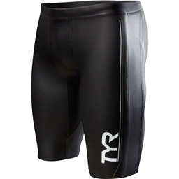 TYR Hurricane Cat 1 NEO Men's Neoprene Training and Racing Shorts: Black/Gray