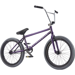 """We The People Zodiac LHD Freecoaster 20 2017 Complete BMX Bike 20.75"""" Top Tube Glossy Translucent Purple"""