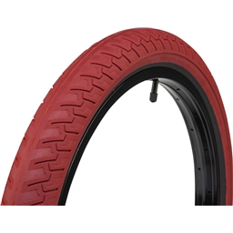"Eclat Ridgestone Slick Tire 20 x 2.4"" 100 PSI Red Tread/Black Sidewall"