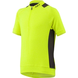 Louis Garneau Lemmon Junior Jersey: Bright Yellow/Black