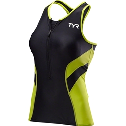 TYR Competitor Women's Tank: Black/Lime