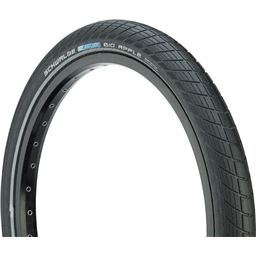"Schwalbe Big Apple Tire, 20 x 2"" Wire Bead Black with Reflective Strip and RaceGuard Protection"