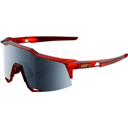 100% Speedcraft Sunglasses: Cherry Palace Frame with Black Mirror Lens, Spare Clear Lens Included
