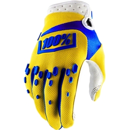 100% Airmatic Full Finger Glove: Yellow