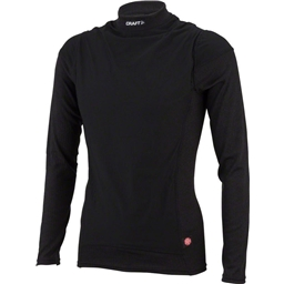Craft Active Wind Stopper Long Sleeve Crew Base Layer Top: Black