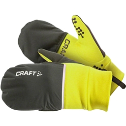 Craft Hybrid Weather Glove: Yellow/Black
