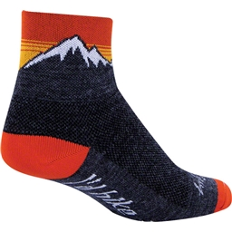 NEW SockGuy Sasquatch Neon Wool Sock Black LG//XL
