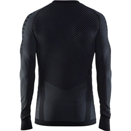 Craft Active Intensity Men's Base Layer Crew Neck Long Sleeve Top: Black/Granite